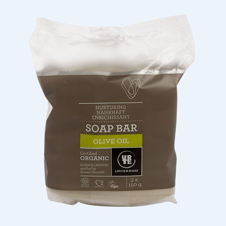 URTEKRAM Mydło z oliwą z oliwek 3x150 g - Nieprzyzwoicie naturalny sklep dla kobiet lubiących siebie