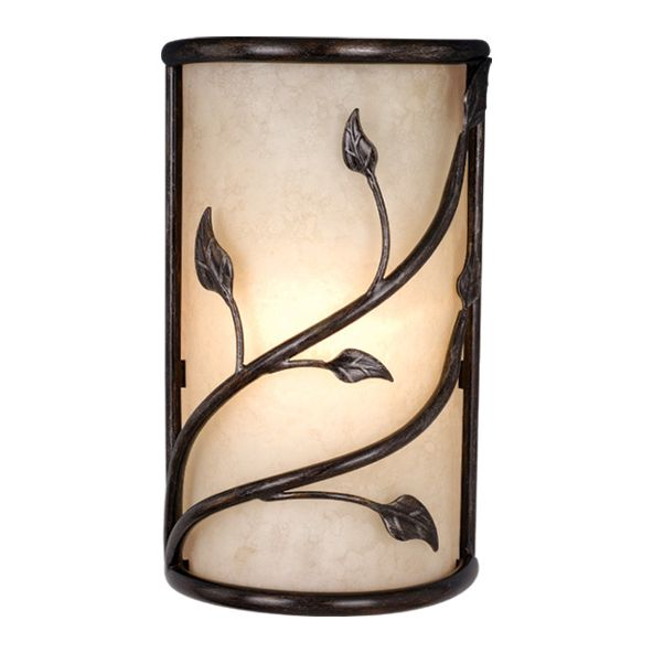 Vaxcel Vine Wall Sconce With Amber Flake Glass   In. Oil Shale   Wrapped In  Twisting Vines, The Organic Form Of The Vaxcel Vine Wall Sconce With Amber  Flake ...