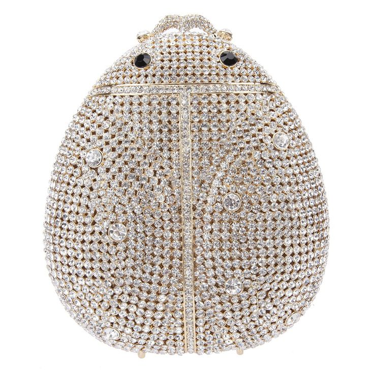 Fawziya Ladybird Cute Clutch For Women Crystal Clutch Handbags-Pure Gold. As shown, despite of very low prices due to direct sale of the factory, as many evaluated, it is more gorgeous than its pictures. All its angle shines. It is a beautiful and elegant evening handbag. Crystal diamond: Fawziya adopts domestic AA diamond with 18 cut surfaces, so it has good refraction effect, and can shine. Hardware: Fawziya uses K gold aluminum-free plating process. Each hardware is well selected to...