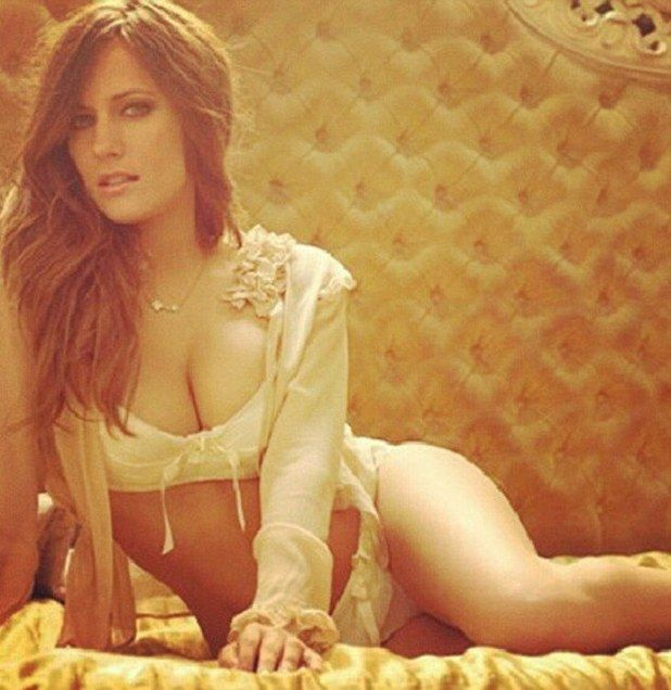 So that's your bedroom! Caroline Flack shows off her ...