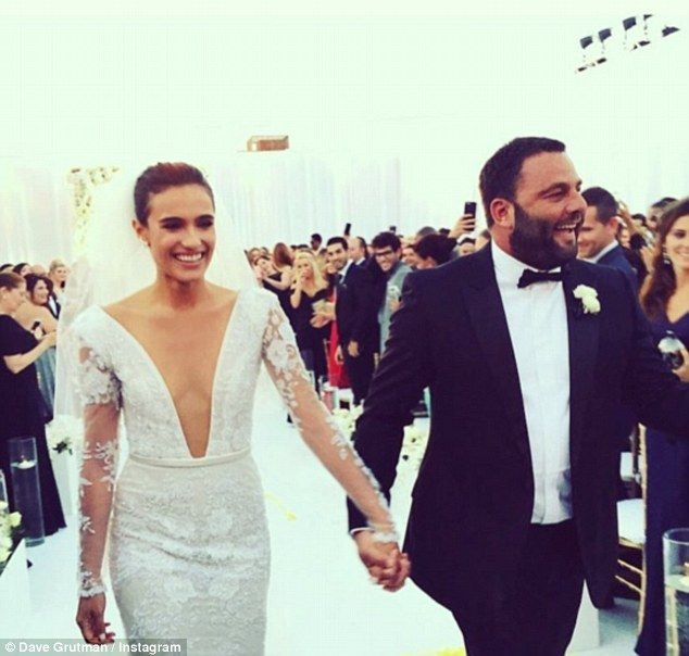 So happy together: David Grutman shared a touching snap of him and his new wife following ...