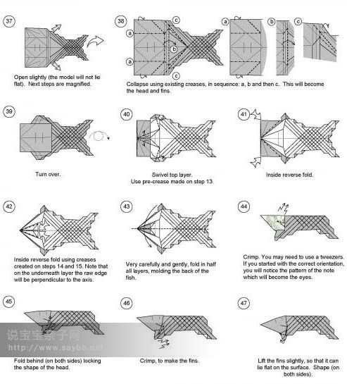 87 best images about origami on pinterest dollar bills for Origami fish instructions