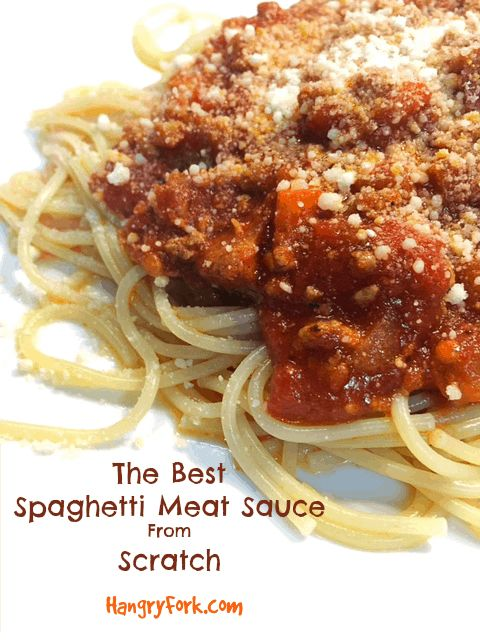 The Best Spaghetti Meat Sauce from Scratch