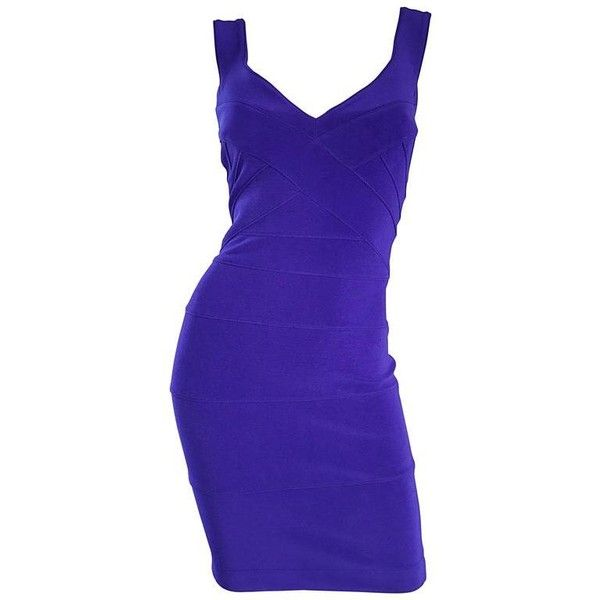 Preowned Nwt Vintage Tadashi Shoji 1990s Purple I Magnin Sexy Bodycon... ($695) ❤ liked on Polyvore featuring dresses, cocktail dresses, purple, sexy mini dress, body con dress, blue cocktail dress, sexy bodycon dresses and sexy purple dresses