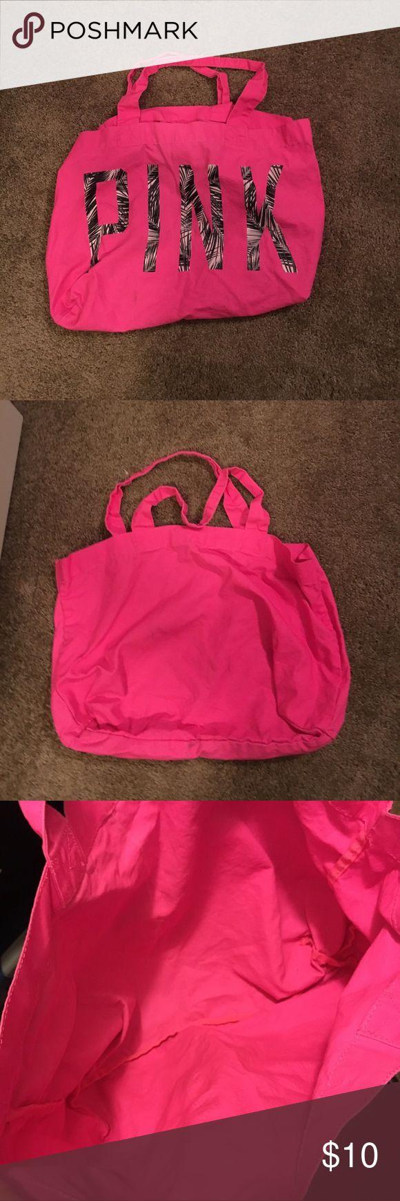 Pink Victoria Secret Tote Bag Pink Victoria Secret Tote Bag PINK Victoria's Secret Bags Totes