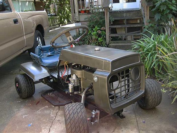 How to make a racing lawn mower