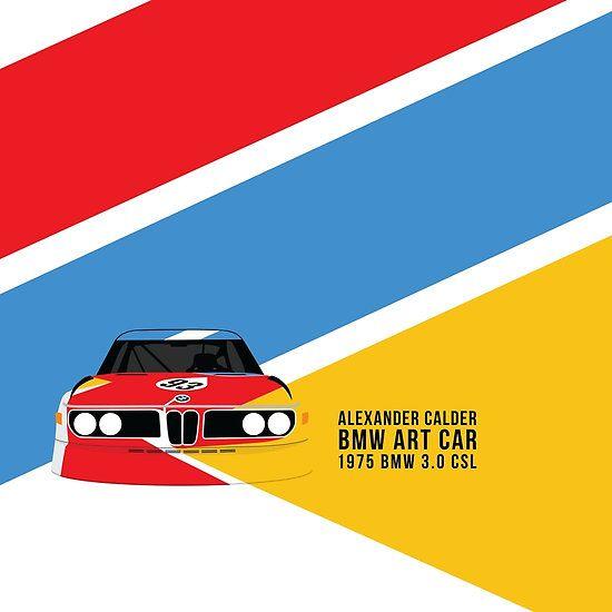 Alexander Calder's 1975 BMW 3.0 CSL BMW Art Car (Design #2)