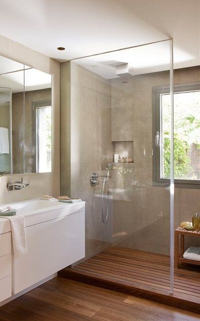 Les 25 meilleures id es de la cat gorie salle de bain 4m2 for Distribucion de banos cuadrados