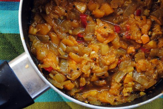 Loquat - Onion chutney - something to do with all that fruit ripening out back.