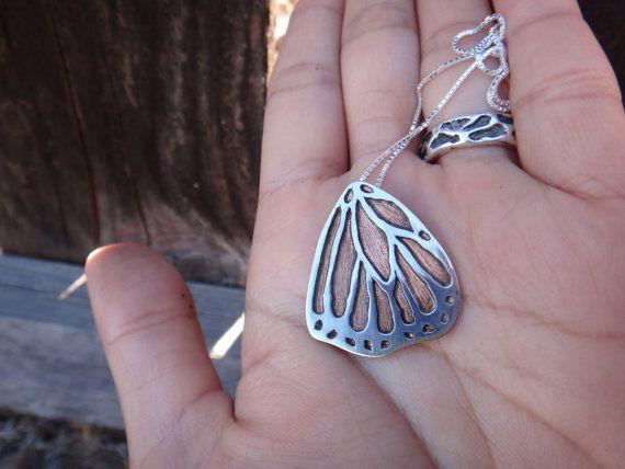 Large Sterling Silver/Copper Backing Monarch by EyvindsAlchemy