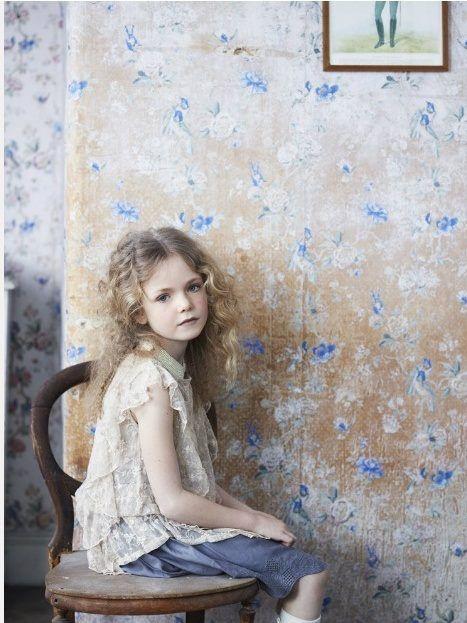 love the wall treatment here via Milk Magazine