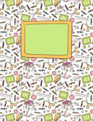 School Doodle Binder Cover