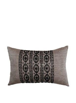 Travertine Edge Rectangle Pillow, Brown/Black, 12