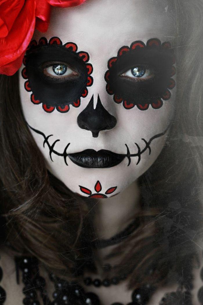maquillaje novia cadaver, maquillaje halloween mujer calavera mexicana (Halloween Manualidades Disfraces)