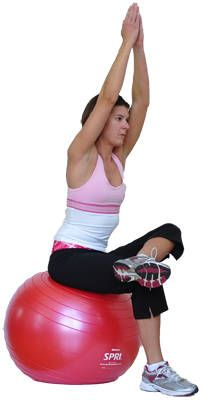 Yoga-based poses using an exercise ball to provide support in helping you improve balance and flexibility.