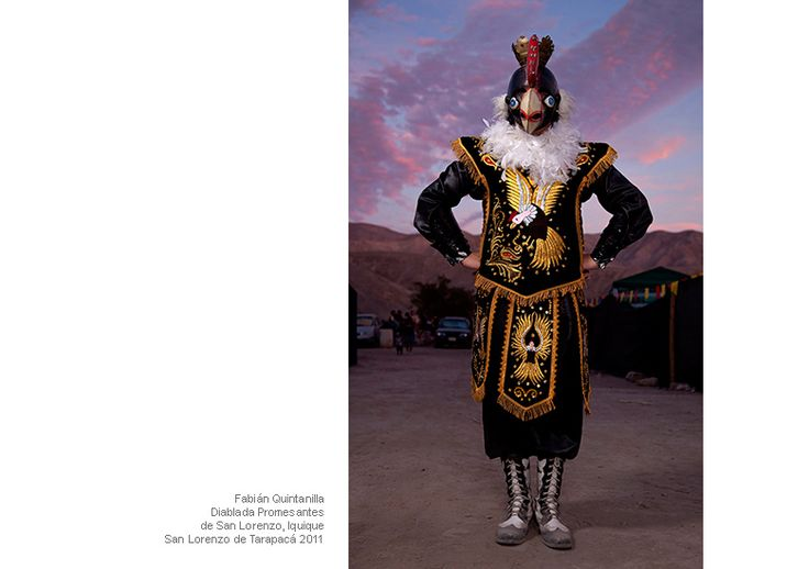 """Fabian Quintanilla, Diablada Promes antes de San Lorenzo, Iquique, San Lorenzo de Tarapaca"", serie Bailarines del desierto, 2011, photo: Andrés Figueroa"