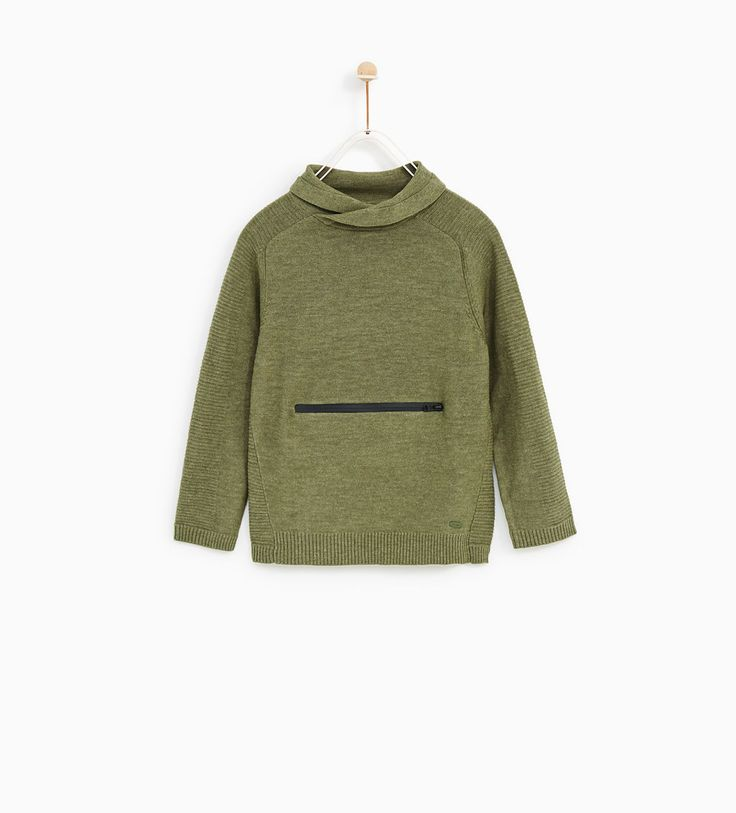 지퍼 포켓 스웨터.