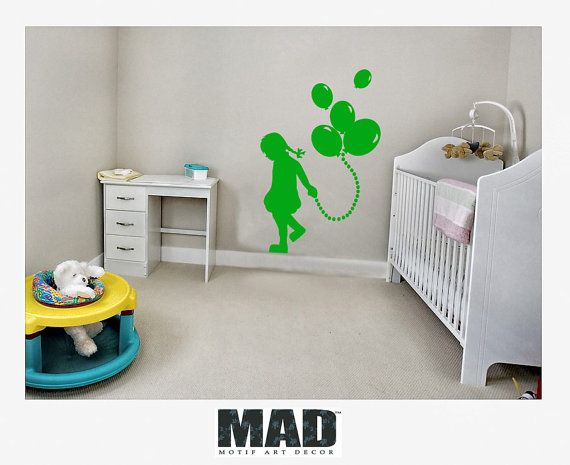 wallsticker wall decals  for kids GIRL WITH by MotifArtDecor