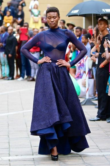 David Tlale collection at Mercedes-Benz Fashion Week Joburg 2014. Image by SDR Photo #MBFWJ