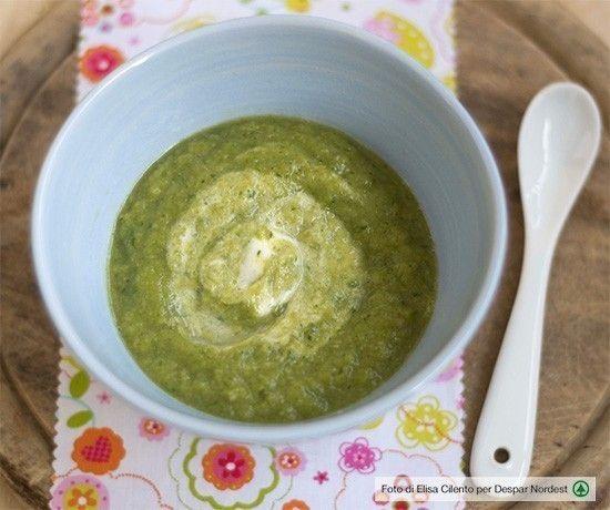 #svezzamento: #ricetta di crema primaverile di asparagi e zucchine  |  casadivita.despar.it