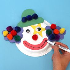 Paper Plate Clown. It was a hit with the kids in art class.