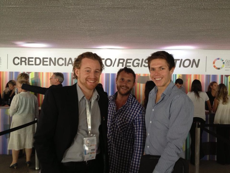Jeremy Liddle and Aaron McNeilly at the Global Entrepreneurship Conference in Rio #GEC2013 #entrepreneurship