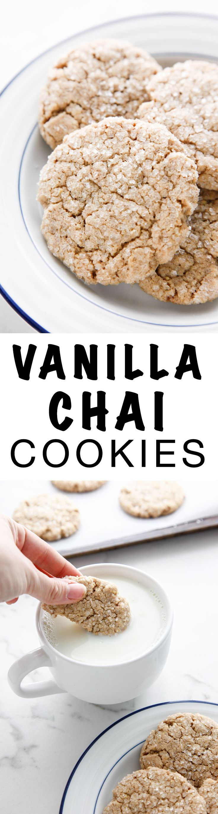Vanilla Chai Cookies are perfect for the holidays! You will absolutely love these tasty cookies! via @thebrooklyncook