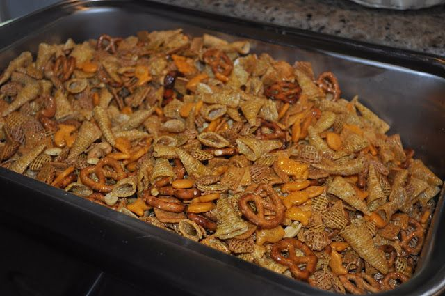 I found this recipe on the taste of home bulletin board. I used my 18 qt Nesco roaster to cook this in. As you can see, it filled it all the...
