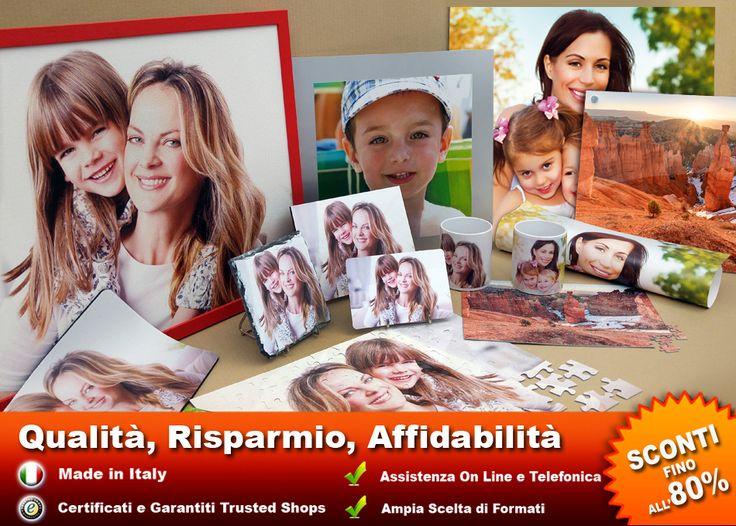 Stampa su Tela, le Tue Foto. Altissima qualità di Stampa, Colori brillanti, Ampia scelta di formati, Pronte da Appendere, Consegna a Casa!