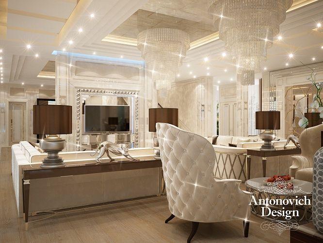 Дизайн гостиной. Лучшие дизайнеры Москвы из студии Анжелики Прудниковой Antonovich Design Moscow в очередной раз подтвердили звание законодательниц моды.