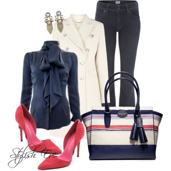 Blue Winter 2013 Outfits for Women by Stylish Eve