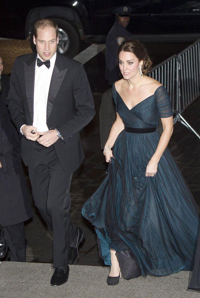 zwangere Kate Middleton straalt in New York in jurk van Jenny Packham