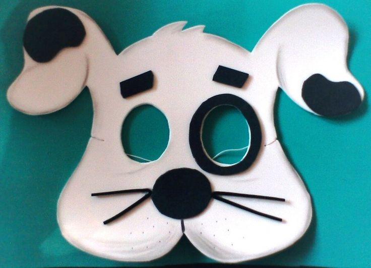Moldes de máscaras de animales - Manualidades en Goma Eva y Foami