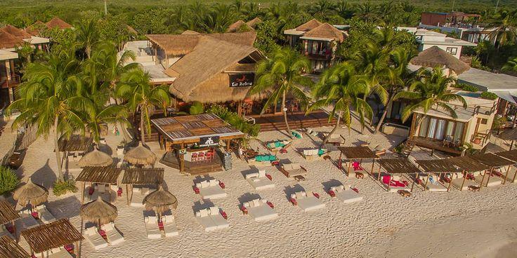 La Zebra Tulum Luxury Hotel Drone View