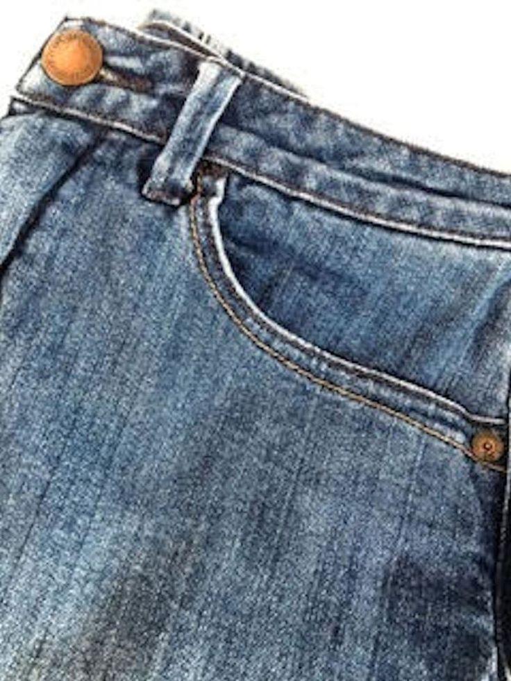 Coldwater Creek Denim Blue Straight Leg Womens Blue Jeans Size 8 #ColdwaterCreek #StraightLeg