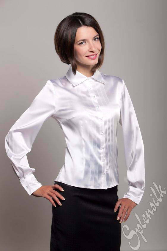 Шуршащий шелк на блузку 89