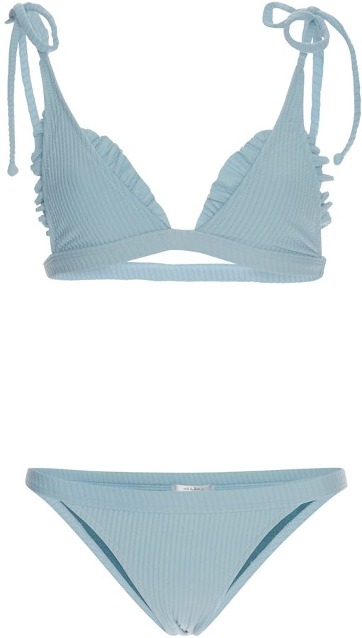 Made By Dawn Ribbed Traveler String Bikini Set on ShopStyle