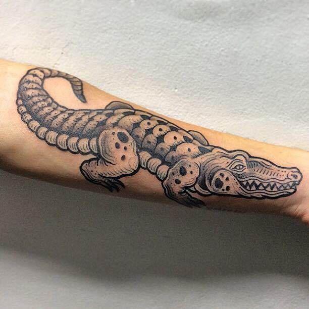 Crocodile Tattoo Motive   #Tattoo, #Tattooed, #Tattoos