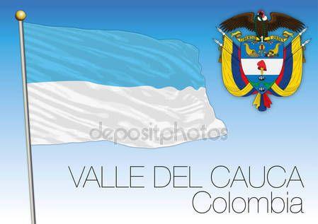 Bandiera regionale di Valle del Cauca, Colombia — Vettoriali  Stock © frizio #140262010