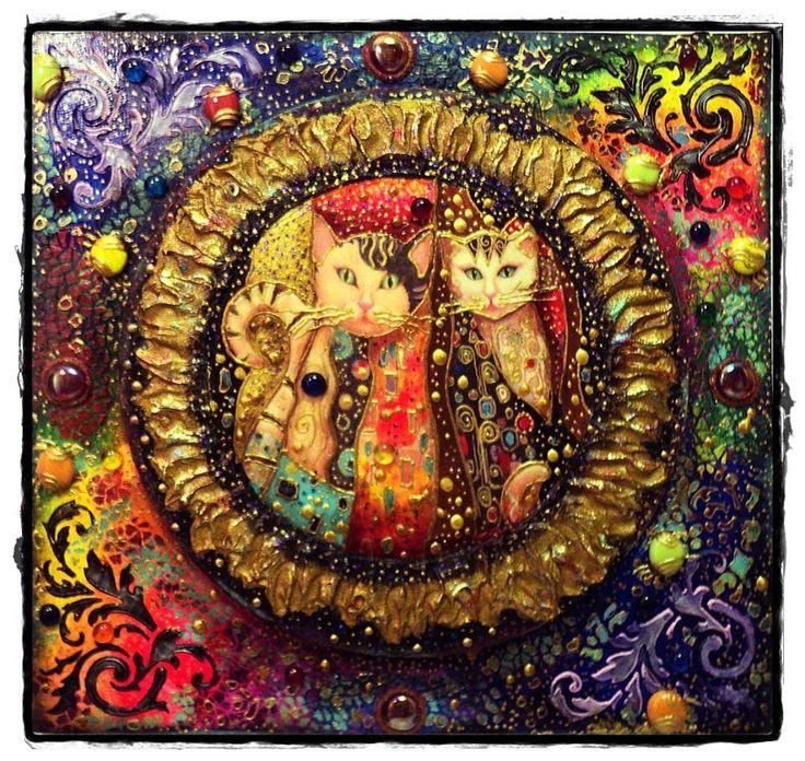 """Декоративное панно """"Созвездие Кошек""""....."""