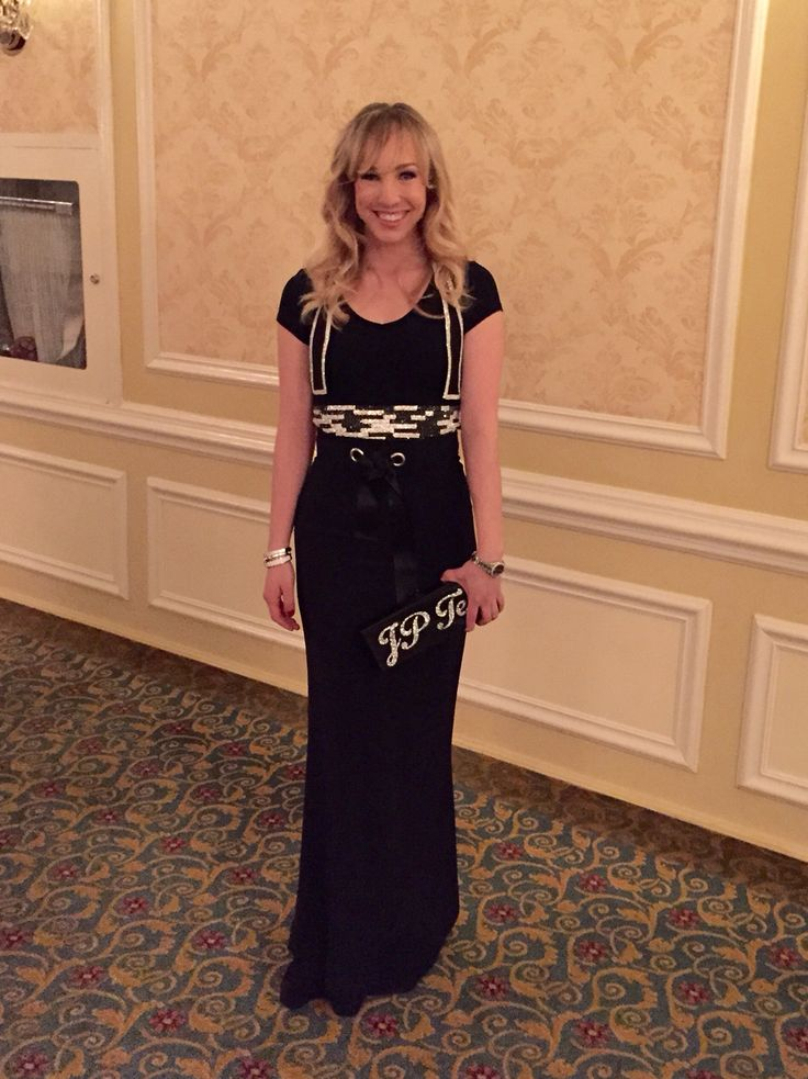 #OOTN try a Swarovski Jacqueline Piron Tshirt/bow tie with a long skirt #fashion