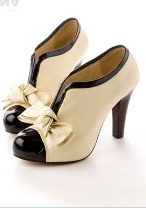 f36c4b19c6a690 V-Opening High Heel Tie Platform Bow Beige Shoes Elegant Ankle Shoes Boots  Sexy