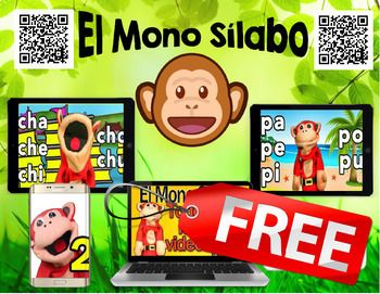 Spanish QR Codes - Mono Silabo - TeacherTube Videos - FREE   What are QR Codes? They are like barcodes. They can be scanned with an iPod, iPad, a smart phone, scanner for your computer, or tablet. Download a QR code scanner for FREE on the App Store. There are several free apps to choose from.   Do you have students coming up saying they can't type the address in correctly to get to the story? QR Codes are so easy for students to scan.