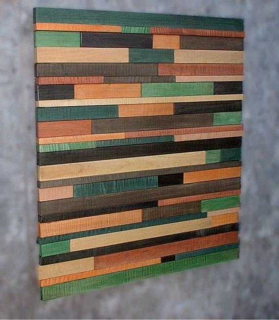 34x30 Dyed Curly Maple Slat Wall Art Sculpture Modern Tribal Southwestern Decor MAKE THIS A HEADBOARD
