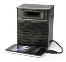 Rock Amp MP3 Speaker - The cool design in the shape of a guitar amplifier means that not only does it sound good but it also looks good. It sits perfectly on a bedside table, desk or even around a campfire, it really is a must have item for any music lover.