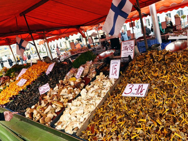 Mushrooms -Because its food markets are unbeatable.   56 Reasons You Should Never Leave Finland