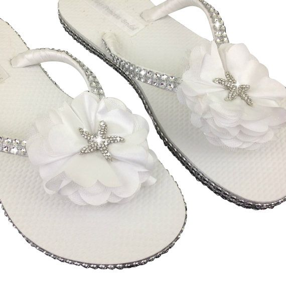 Sandalias de novia estrella de mar ojotas por APricelessPrincess