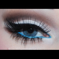 long lashes and blue just my favs