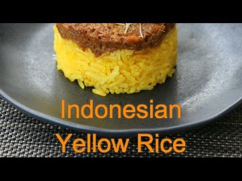 13 best asian food recipe videos images on pinterest recipe indonesian yellow rice this delicious yellow rice recipe nasi kuning is an indonesian rice forumfinder Images