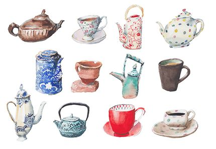 A fine art print entitled Tea O' Clock by Irina Dobrescu!